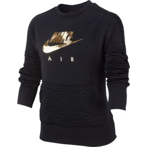 Nike Sportswear Air Fleece Pullover Kids Girls Long Sleeve Top