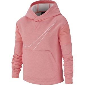 Nike Therma Graphic Pullover Kids Girls Training Hoodie