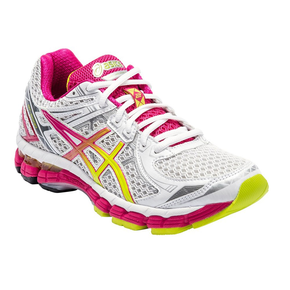 asics gt 2000 2 womens running shoes white lime. Black Bedroom Furniture Sets. Home Design Ideas