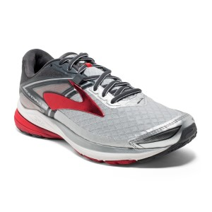 Brooks Ravenna 8 - Mens Running Shoes - Silver/Anthracite/Red