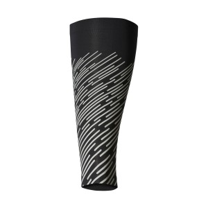 2XU Reflect Unisex Compression Calf Guards - Black/Silver Lightbeams Reflective