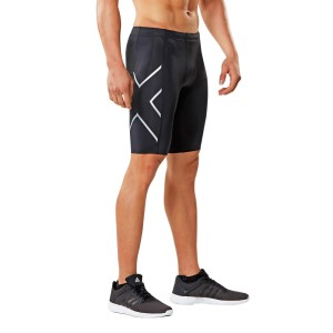 2XU Mens Compression Shorts - Black/Silver