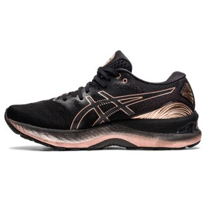 Asics Gel Nimbus 23 Platinum - Womens Running Shoes - Black/Rose Gold