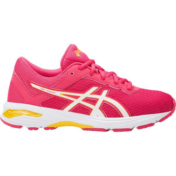 Asics Gel GT-1000 6 GS - Kids Girls Running Shoes - Rouge Red/White/Vibrant Yellow