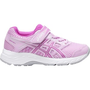 Asics Contend 5 PS - Kids Girls Running Shoes - Astral/Orchid