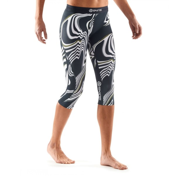 Skins DNAmic Womens Compression 3/4 Tights - Living Lines
