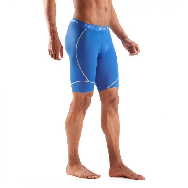 181a3043cf Skins DNAmic Team Mens Compression Half Tights - Royal Blue | Sportitude
