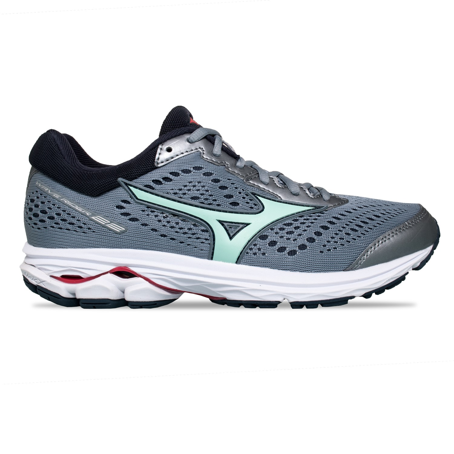 5344be307c7c Mizuno Wave Rider 22 - Womens Running Shoes - Tradewinds/Brook Green/ Teaberry