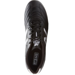 6161e029e0b10 New Balance 442 Team FG - Mens Football Boots - Black/White | Sportitude