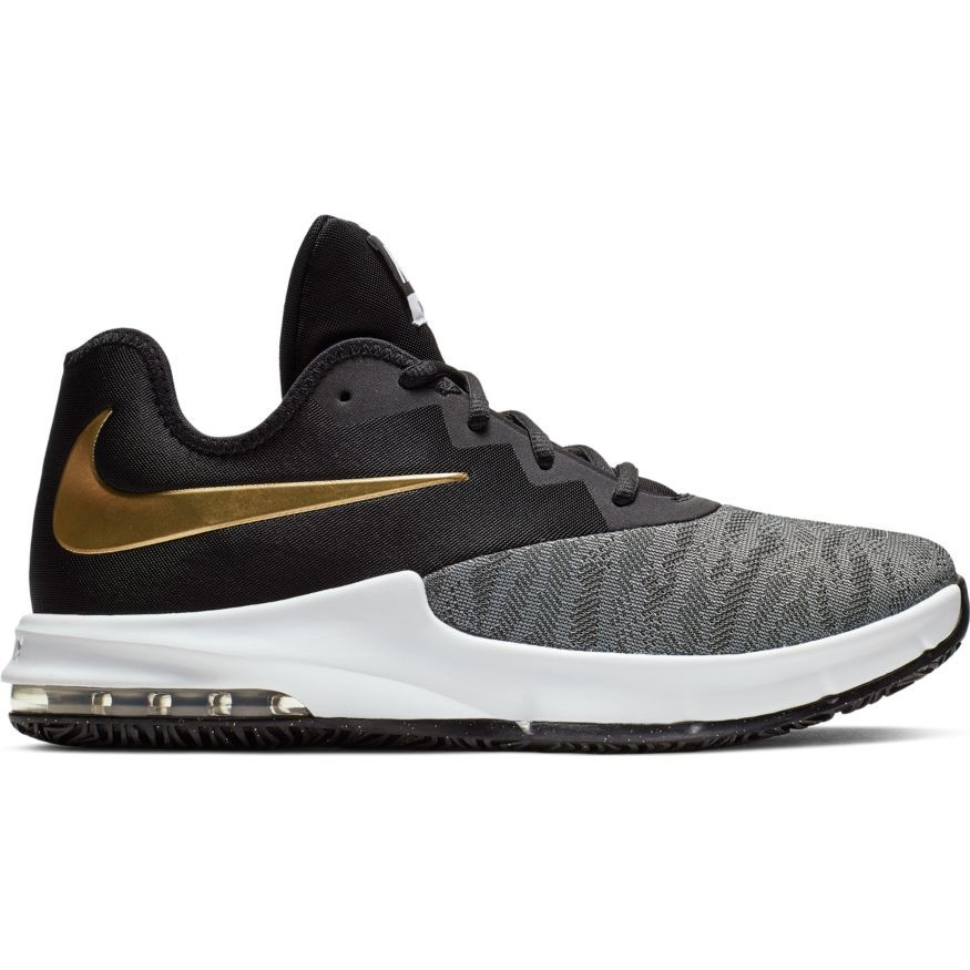 lowest price c3280 f6eb2 Nike Air Max Infuriate III Low - Mens Basketball Shoes - Black Metallic  Gold
