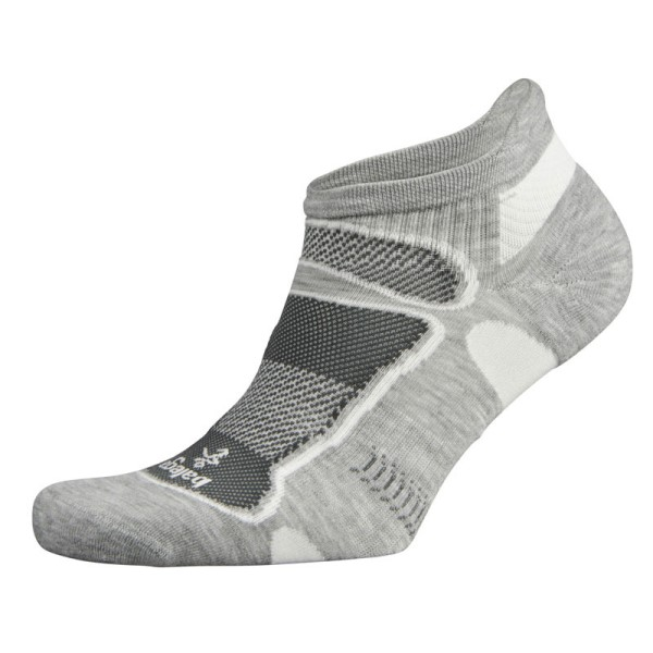 Balega Ultra Light No Show Running Socks - Grey/White