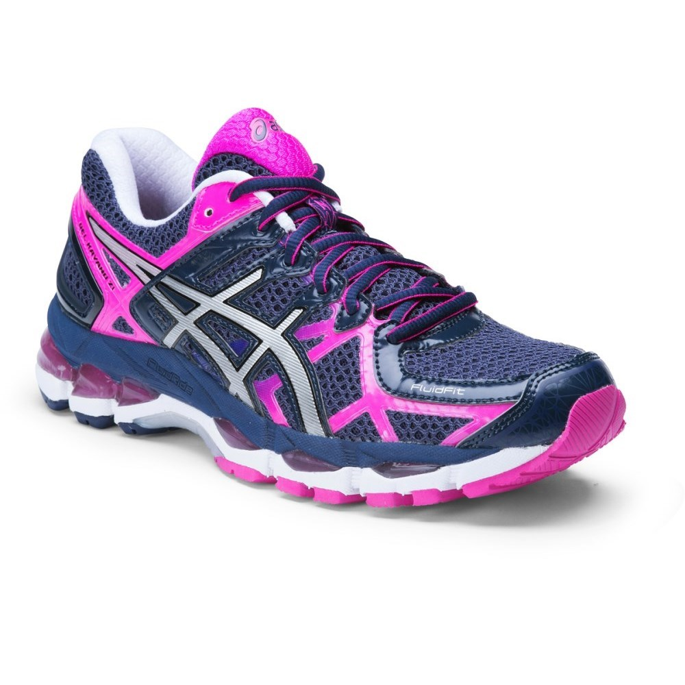 Asics Gel Kayano  Womens Shoes Black Plum Blue