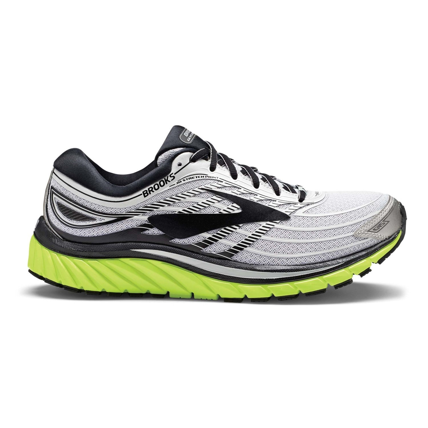 83f7fd12d0704 Brooks Glycerin 15 - Mens Running Shoes - Silver Black Nightlife ...