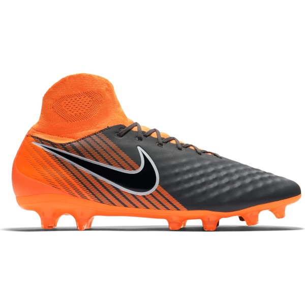 Nike Magista Obra II Pro DF FG - Mens Football Boots - Dark Grey/Black/Total Orange/White
