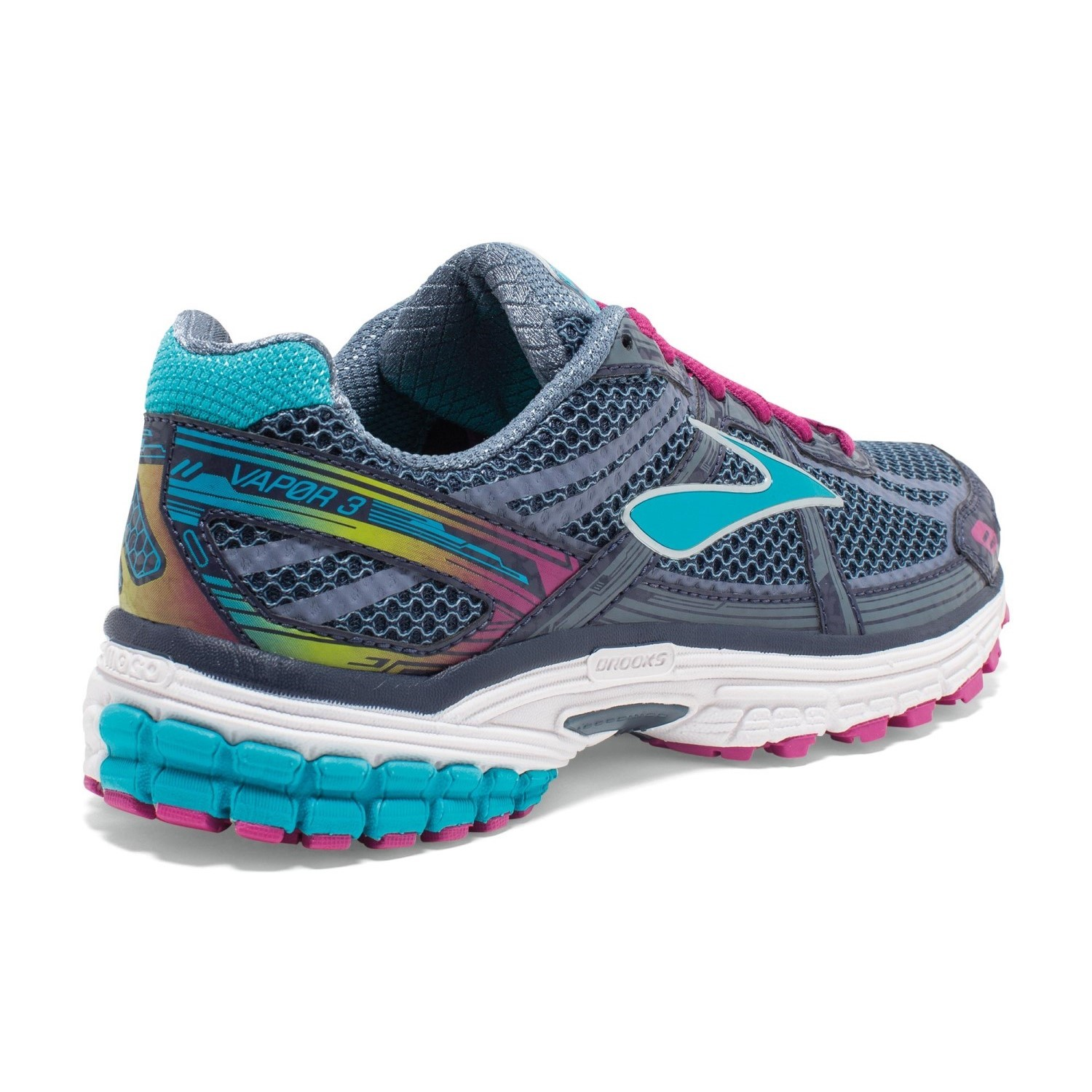 Brooks Vapor 3 - Womens Running Shoes - Peacoat/Blue Bird