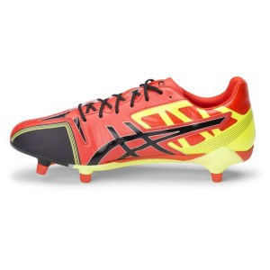 c5d41fe37 ... Asics Gel Lethal Speed - Mens Rugby Boots - Deep Orange Black Flash  Yellow ...