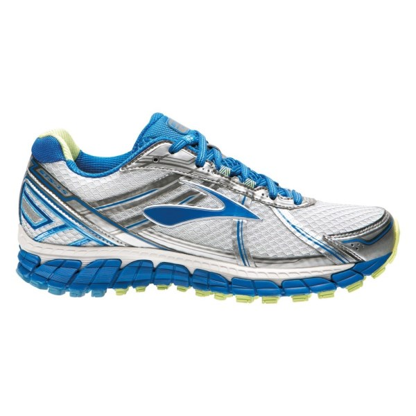 Brooks Adrenaline GTS 15 - Womens Running Shoes - White/Dazzling Blue/Green