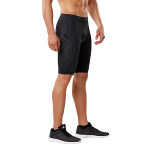 2XU MCS Run Mens Compression Shorts - Black/Nero Reflective