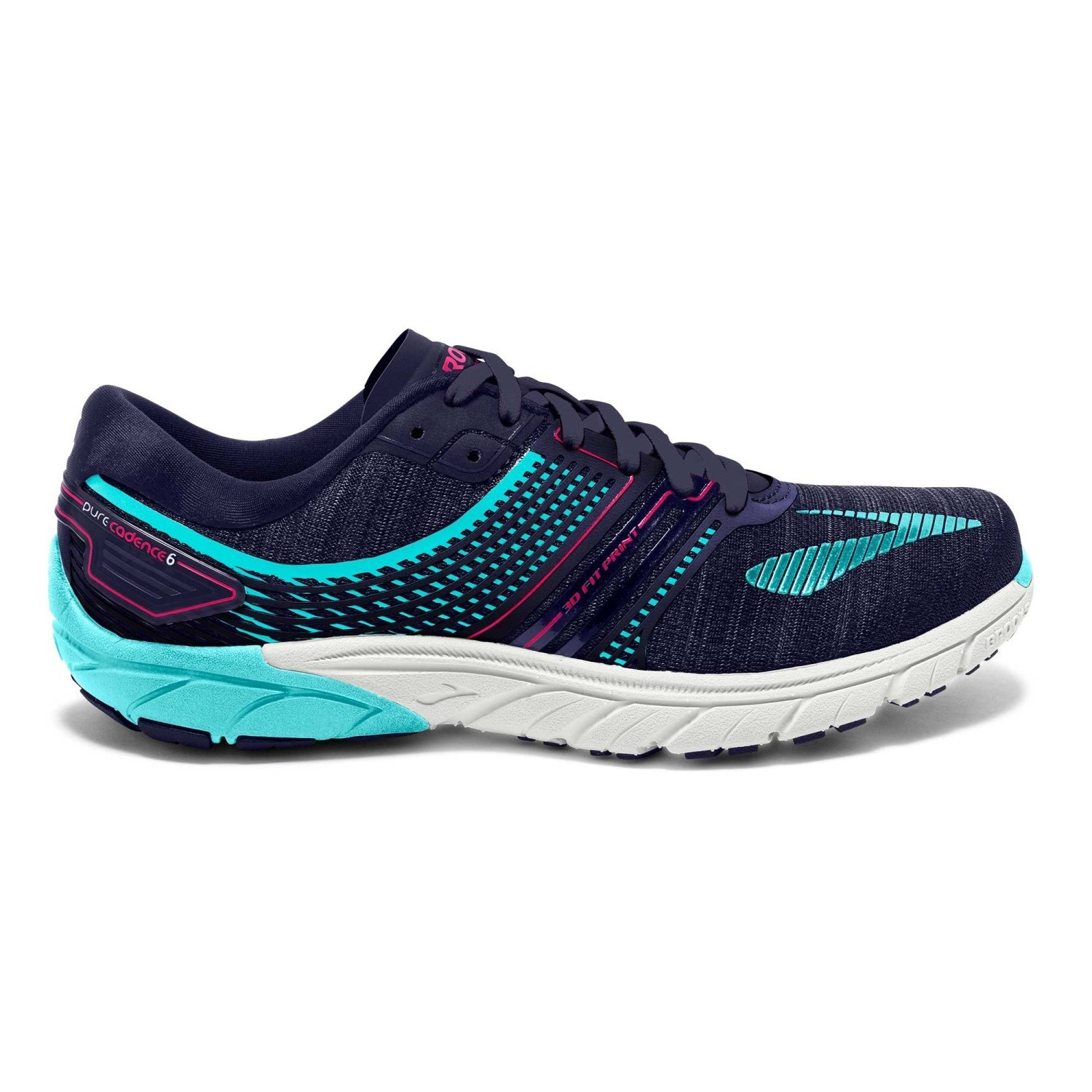 ad8572686cd Brooks PureCadence 6 - Womens Running Shoes - Evening Blue Pink  Peacock Island Paradise
