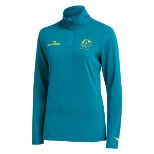 Diadora Commonwealth Games 1/4 Zip Womens Training Top