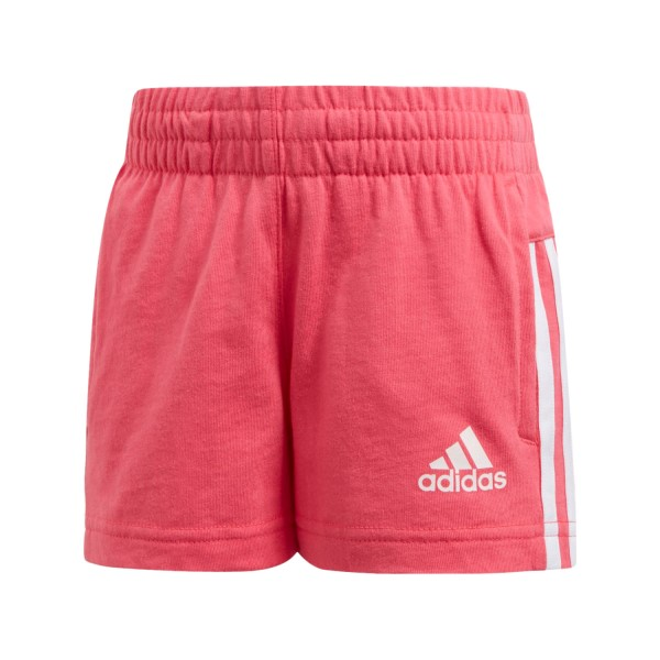 Adidas Knitted Little Girls Training Shorts - Super Pink/White