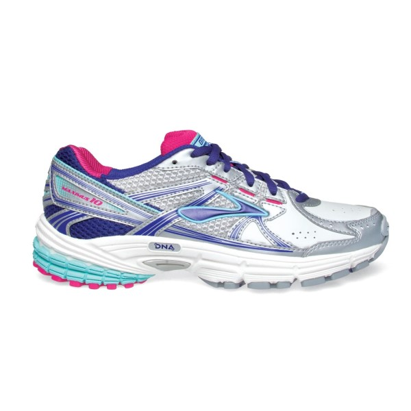 Brooks Maximus XT 10 Leather - Womens Cross Training Shoes - White/Spectrum Blue/Purple