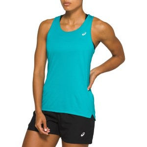 Asics Silver Womens Running Tank Top