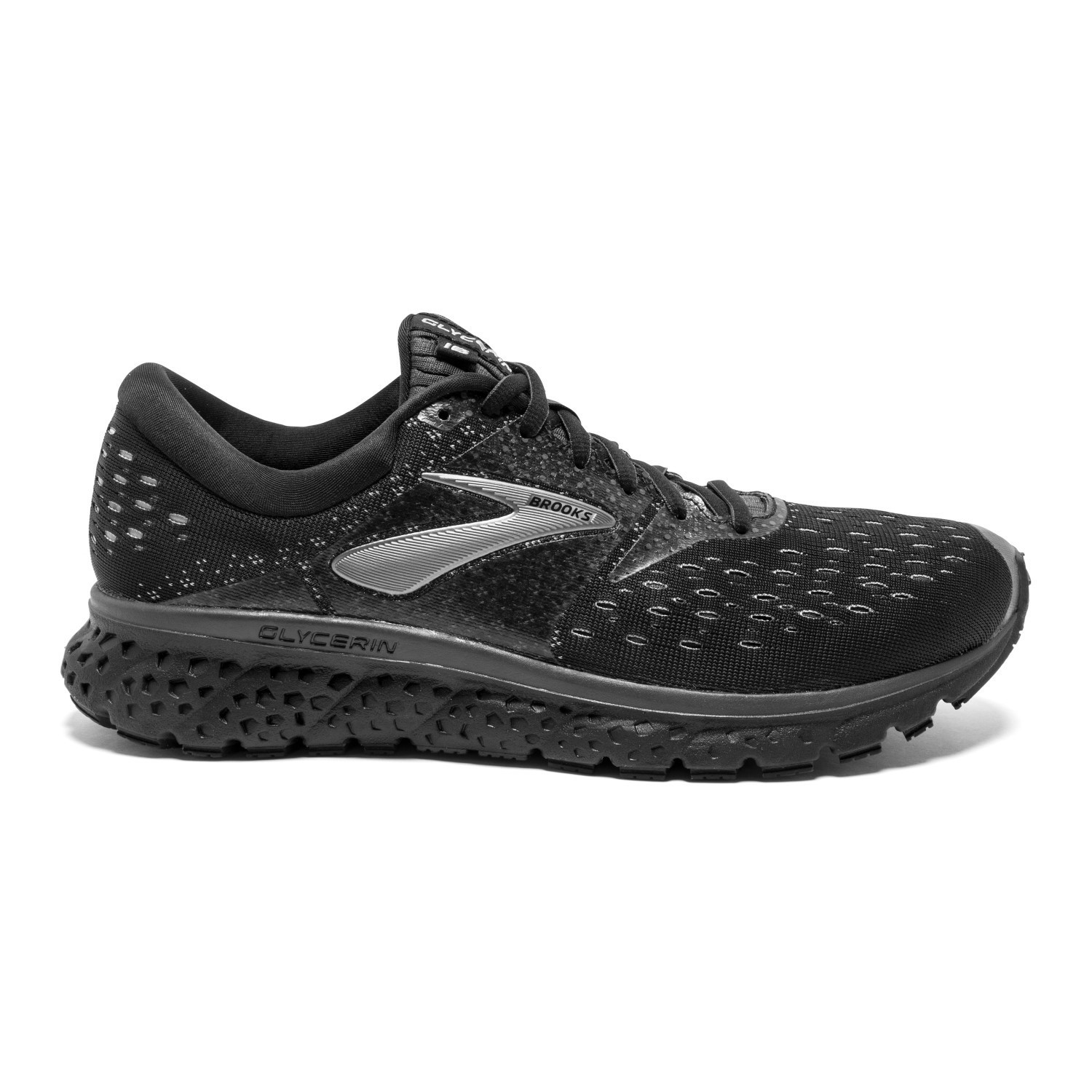 e18e59b69f1 Brooks Glycerin 16 - Mens Running Shoes - Black Ebony