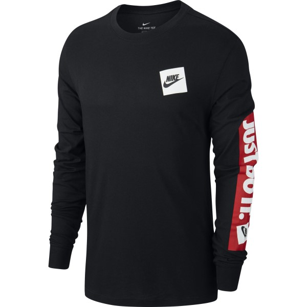 Nike Sportswear Just Do It Mens Long Sleeve T-Shirt - Black