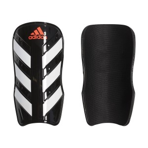 Adidas Everlesto Soccer Shin Guards - Black/White/Solar Red