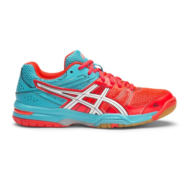 433213f62910 Asics Gel Rocket 7 - Womens Indoor Court Shoes - Diva Pink White ...