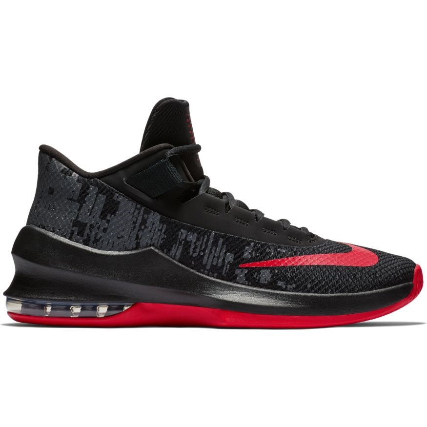 quality design 9a710 457c7 Nike Air Max Infuriate 2 Mid - Mens Basketball Shoes - Black University Red