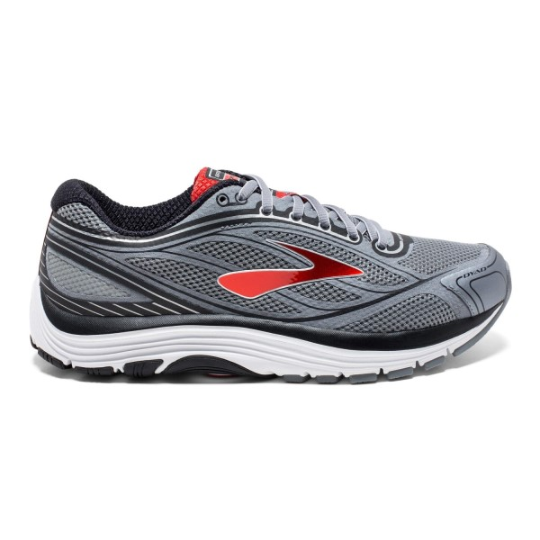 Brooks Dyad 9 - Mens Running Shoes - Grey/Red/Black
