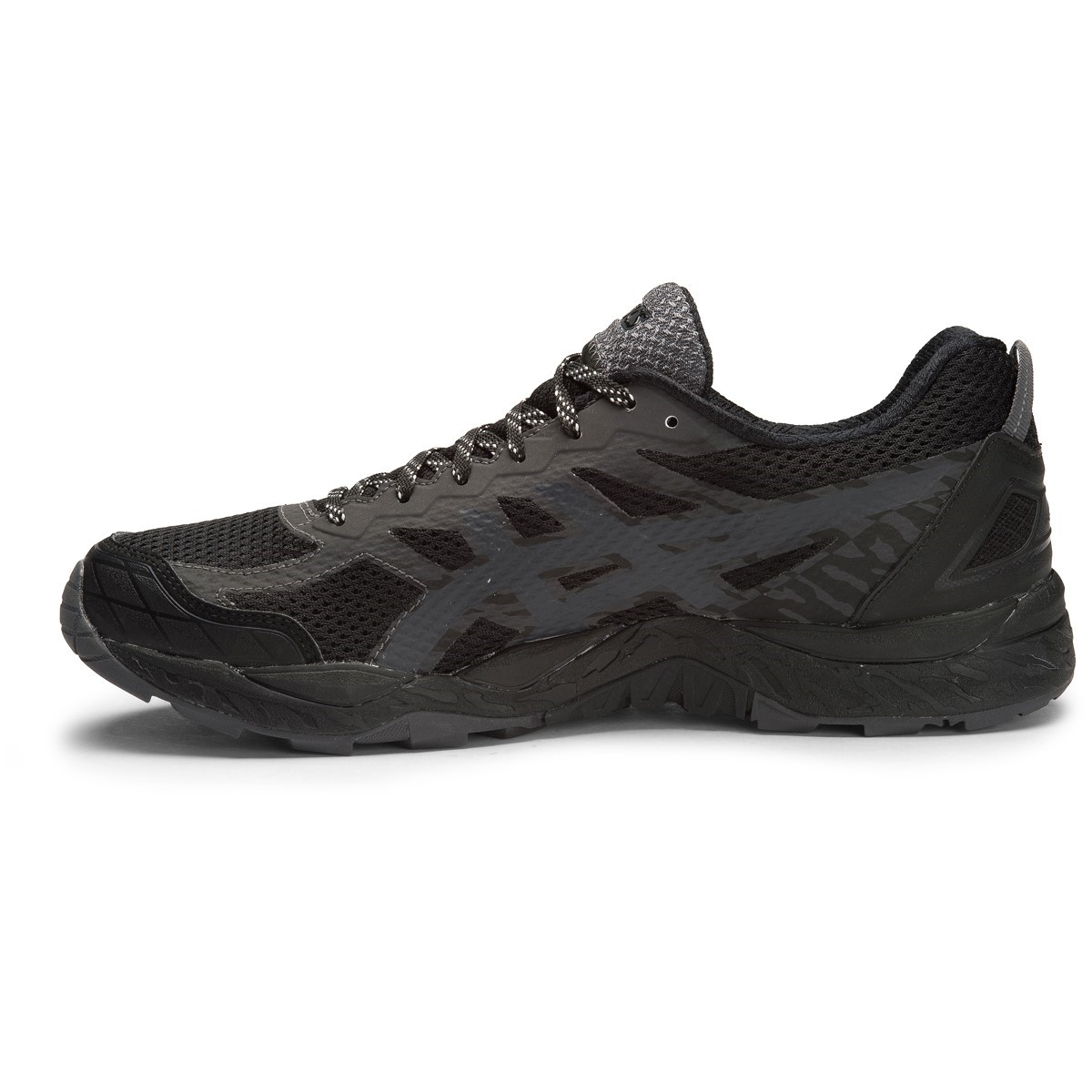asics gel fuji trabuco 5 gtx mens trail running shoes black dark steel silver online. Black Bedroom Furniture Sets. Home Design Ideas