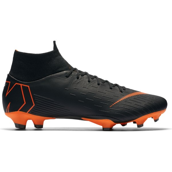 Nike Mercurial Superfly VI Pro FG - Mens Football Boots - Black/White/Total Orange