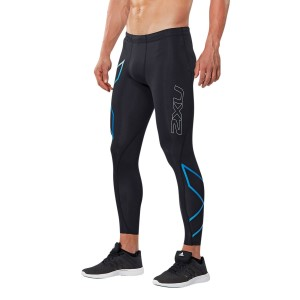 2XU ICE-X Mens Compression Tights - Black/Cool Blue