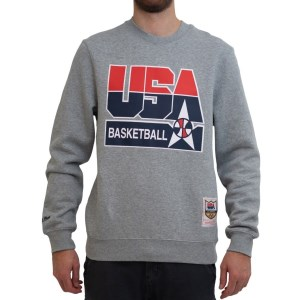 Mitchell & Ness Team USA Crew Mens Basketball Sweatshirt