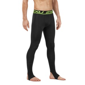 2XU Power Recovery Mens Compression Tights - Black/Nero