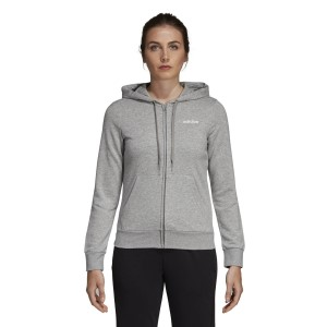 Adidas Essentials Plain Full Zip Womens Casual Hoodie