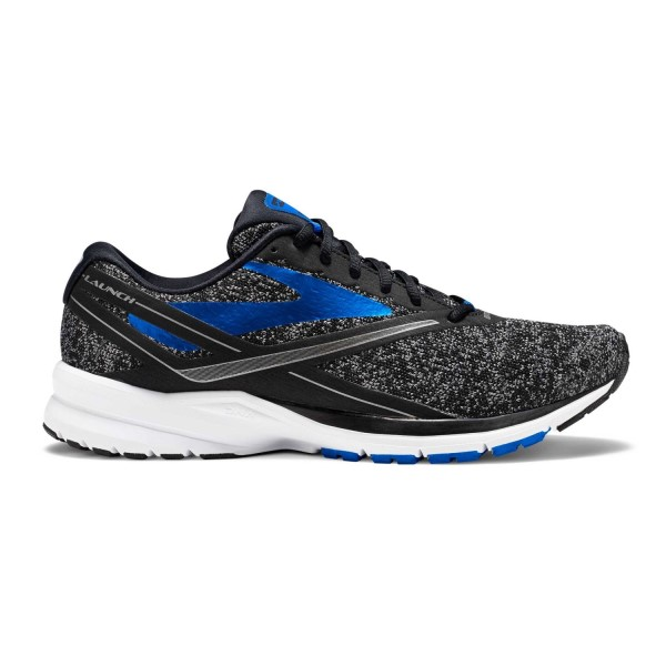 Brooks Knitted Launch 4 - Mens Running Shoes - Black/Anthracite/Electric Brooks Blue