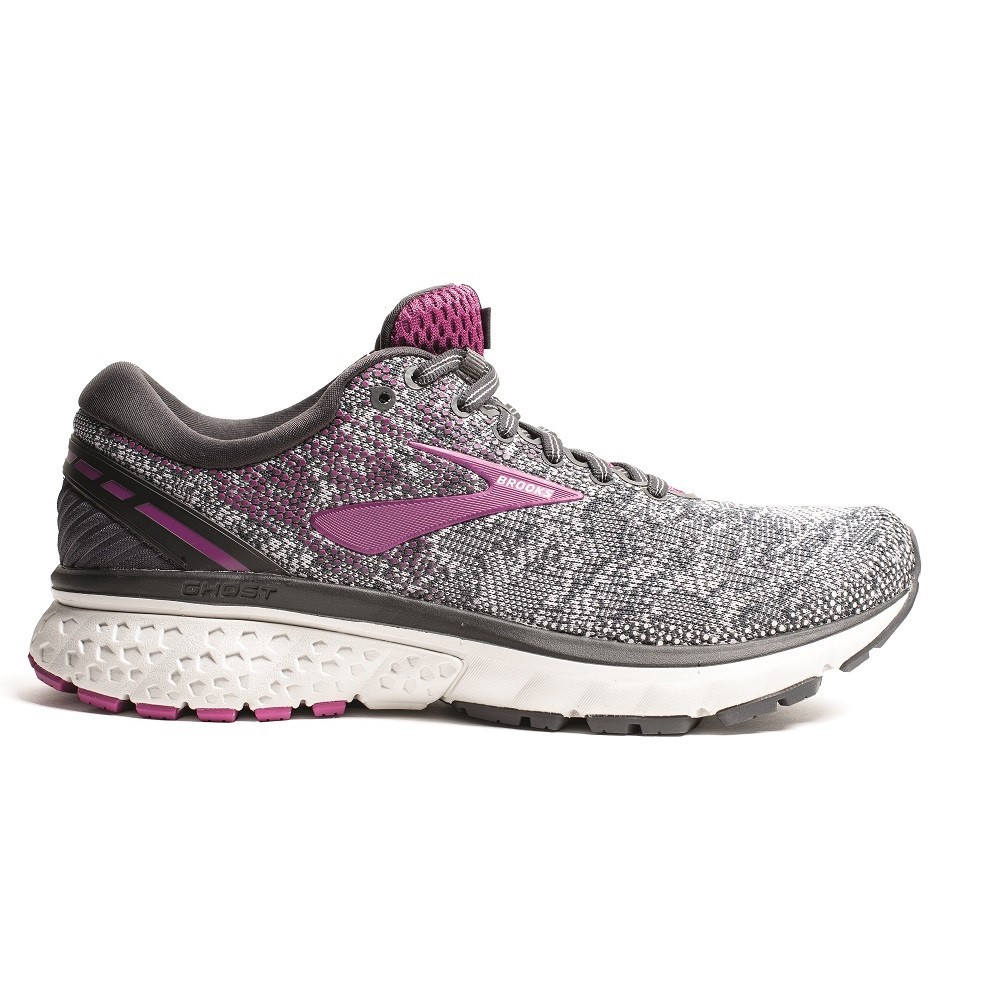 174664769b3af Brooks Ghost 11 Knit - Womens Running Shoes - Ebony Oyster Wild Aster