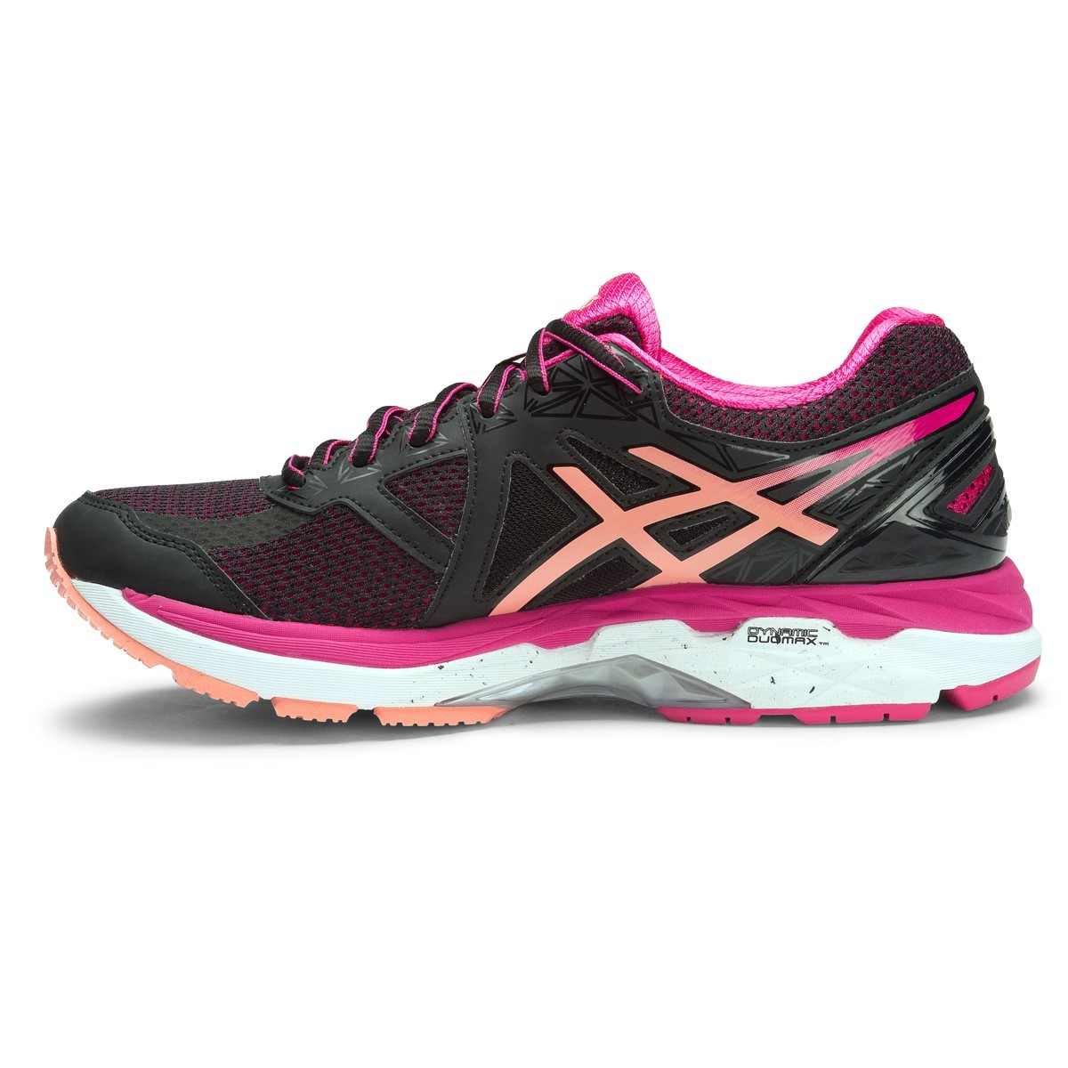 asics gt 2000 4 d womens running shoes black peach melba pink online sportitude. Black Bedroom Furniture Sets. Home Design Ideas