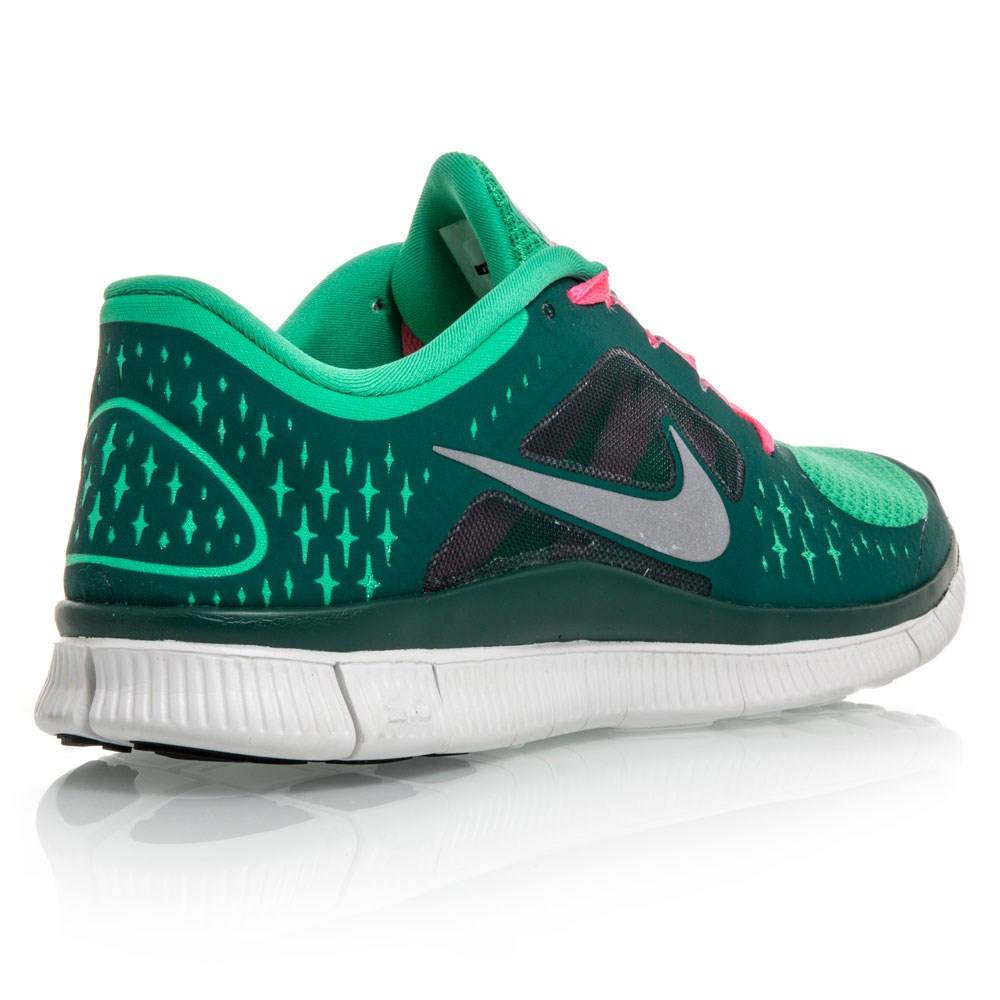 Nike Free Run+ 3 - Womens Running Shoes - Green/Pink/White ...
