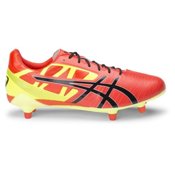 52ef5887742c Asics Gel Lethal Speed - Mens Rugby Boots - Deep Orange Black Flash Yellow