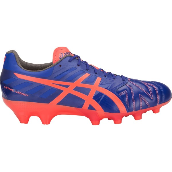 Asics Lethal Legacy IT - Mens Football Boots - Asics Blue/Flash Coral