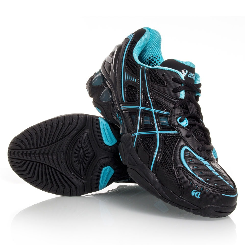 asics black and blue