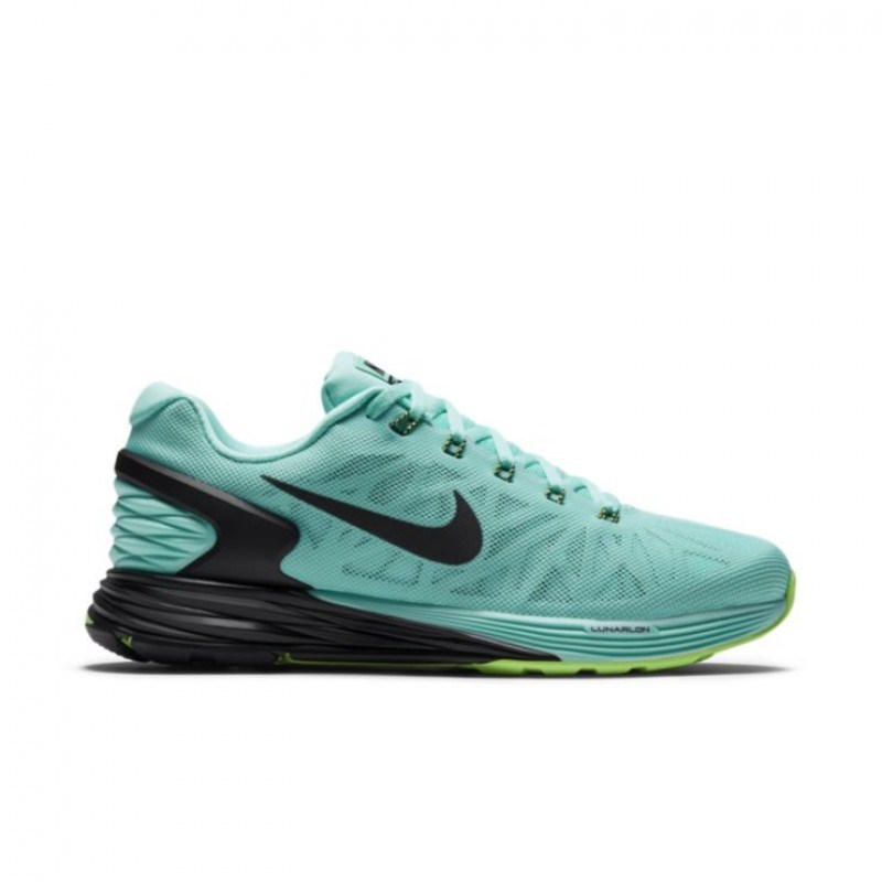0008a4e90cf51 Nike LunarGlide 6 - Womens Running Shoes - Light Aqua Black Lime ...