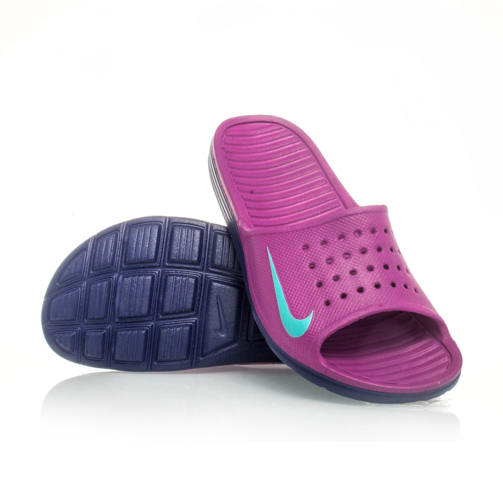 Innovative Nike Benassi Solarsoft - Womens Slides - Black/Grey Online | Sportitude