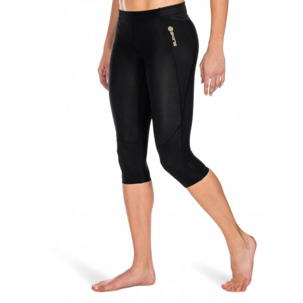 Skins A400 Womens 3/4 Tights - Black