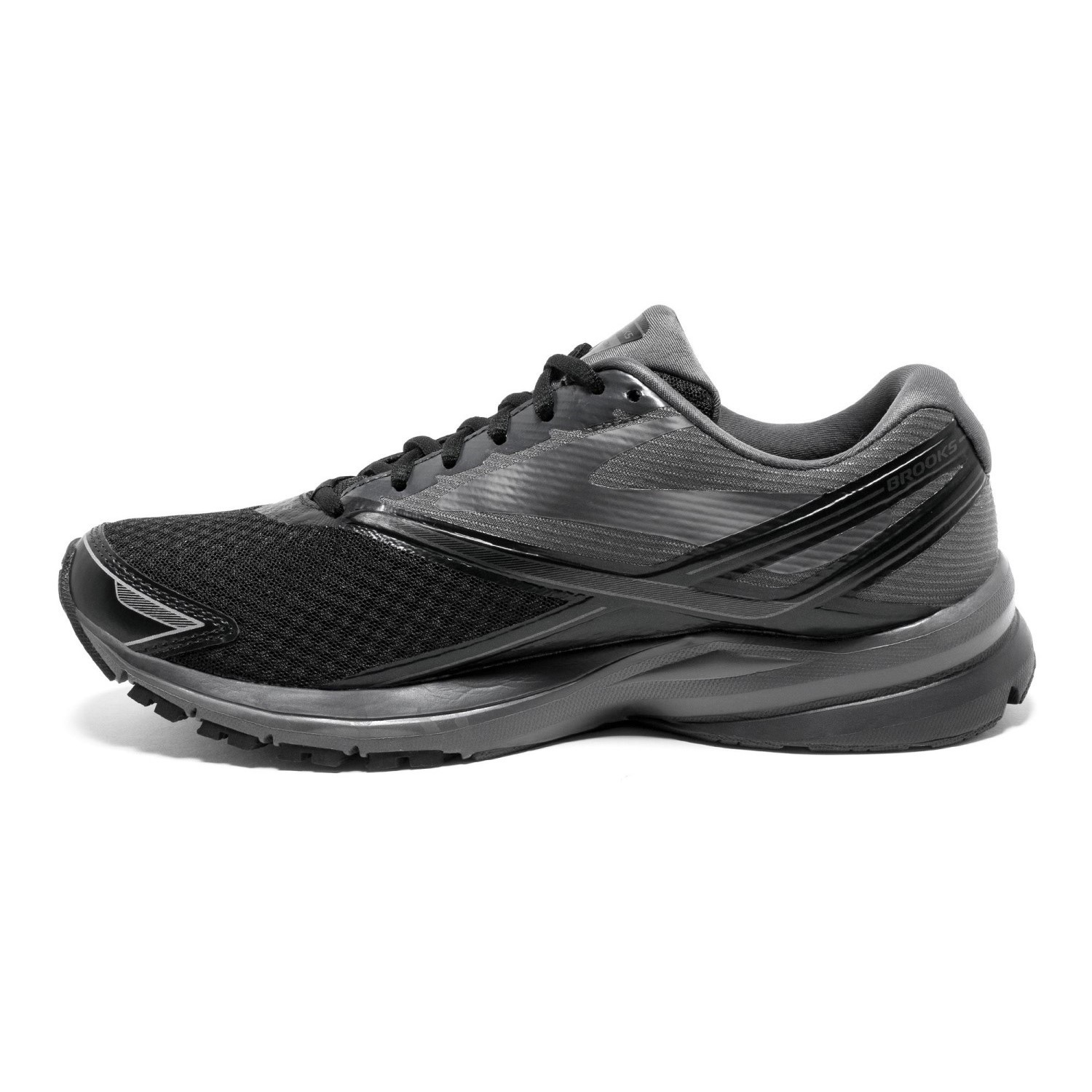 3c99f0d7a0cb7 Brooks Launch 4 - Mens Running Shoes - Black Anthracite Silver ...